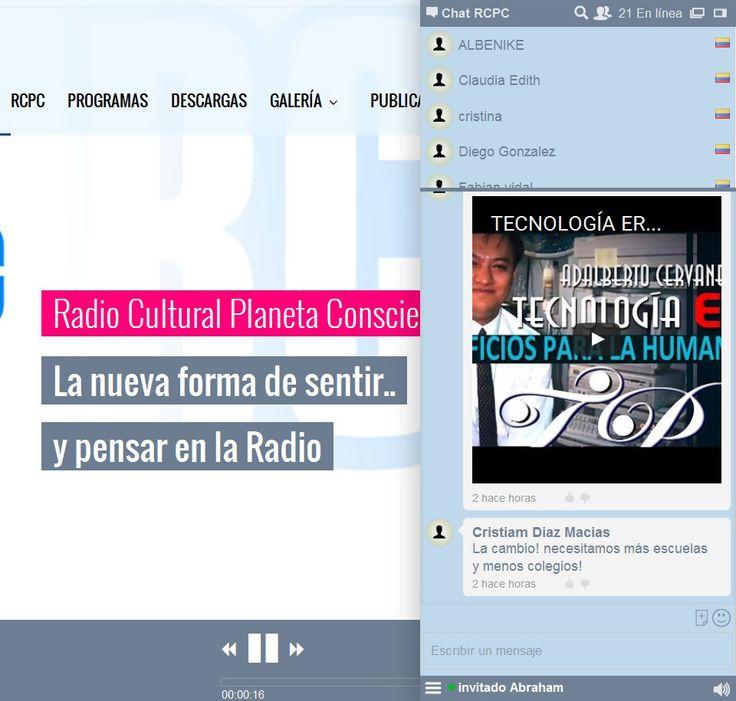 Online radio station.