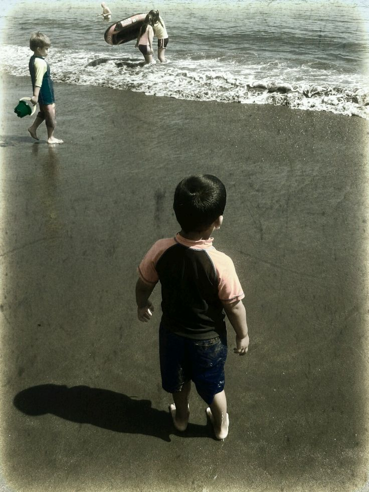 Kids and the beach.