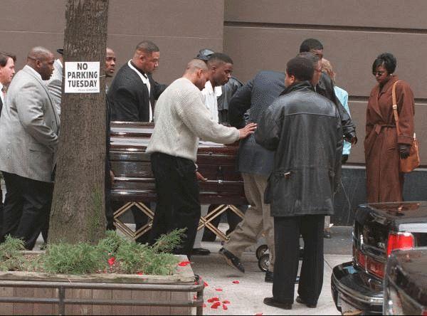 biggie in casket funeral pics accompany the casket of