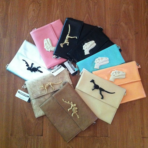 .Dino series clutch bag, just drops by @mannequinplastic, warm color IDR 255K