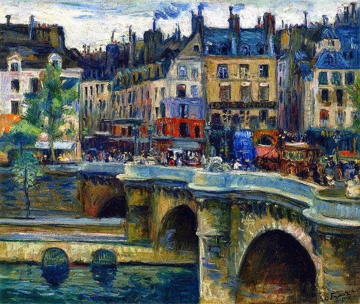 Emile-Othon Friesz (1879-1949) French painter - The Pont Neuf in Paris, 1902