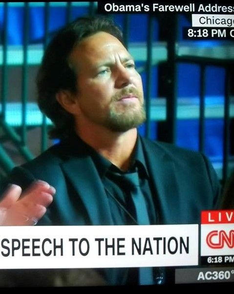 This beautiful man tonight at Obama's Farewell Address,