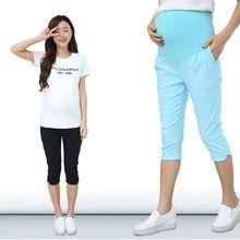 Pantalones De Maternidad Gravida Ropa de verano Capris Cortos Bienes de Embarazo Ropa de mujer trajes de Tamaño 4XL vetement femme