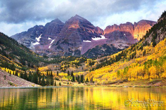 Aspen Photo Set Maroon Bells Autumn Set Colorado Fall