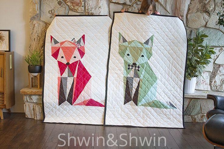 free pattern: fox quilt