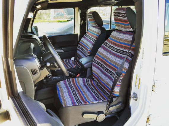 Full Face Boho Custom Seat Covers by KingofSeatCovers on Etsy