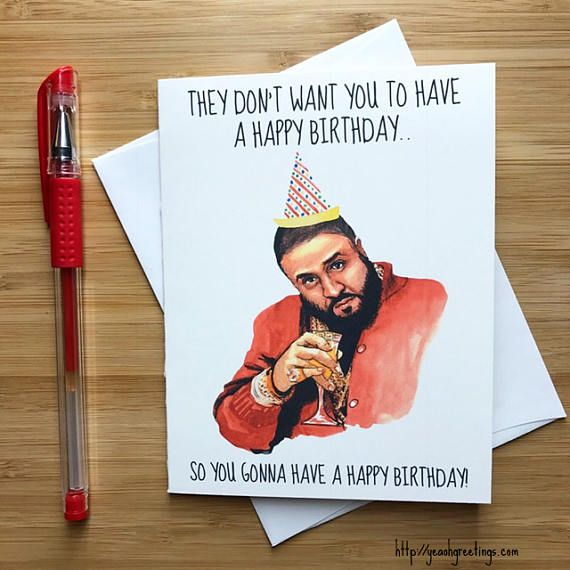 Funny They Don't Want You Birthday Card, Hip Hop, Funny Birthday Card, Happy Birthday Card, Hip