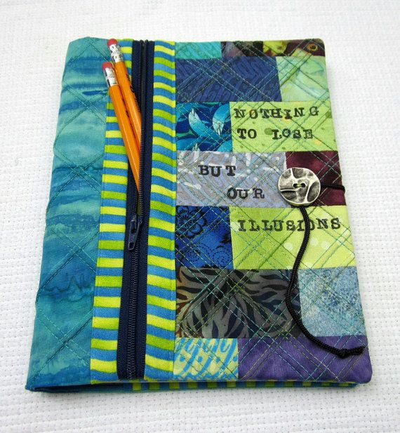 quilted journal/sketchbook cover with pencil pocket, LOVE this idea!