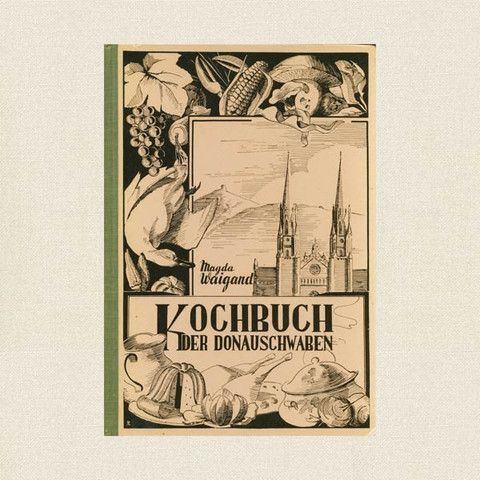 This is a scarce vintage cookbook called Kochbuch der Donauschwaben, a German language cookbook.