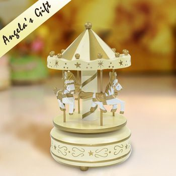 Buy Wooden Carousel music box clockwork wooden music box merry go around Christmas gift free shipping in Cheap Price on m.alibaba.com
