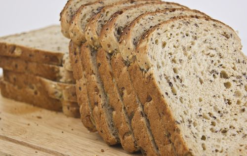 Whole Wheat Bread-----Eating healthy bread products is a great way to start gaining weight. If you're adding bread to your diet, look for whole grains. While white bread is what we all grew up with, it's not the best for your health. By refining the wheat so much, we strip the nutrients out of it. Instead, opt for whole grain varieties. These contain a fiber and minerals that are missing in white bread. It will help you stay full for longer, and give you sustained energy.