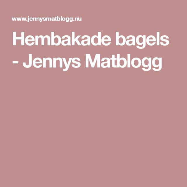 Hembakade bagels - Jennys Matblogg