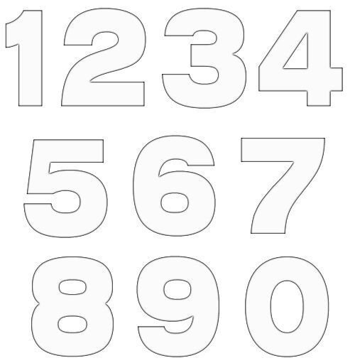 Number template I'm using for Tzad's felt board
