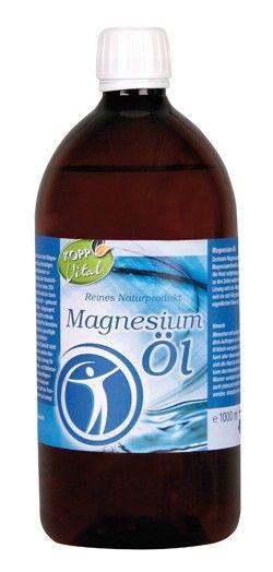 Zechstein-Magnesium-Öl - eine gesättigte Magnesiumchlorid-Lösung, die auf die Haut aufgetragen, dort resorbiert und zu den Zellen weitertransportiert wird.