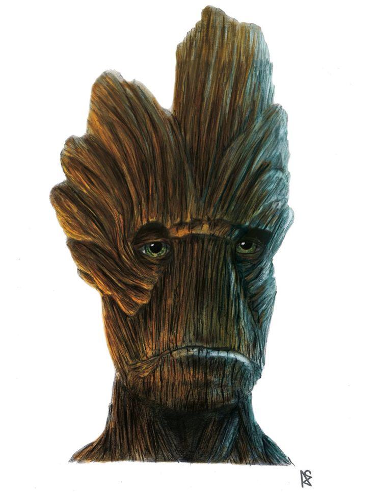 Groot drawing - digitale    by Adilas
