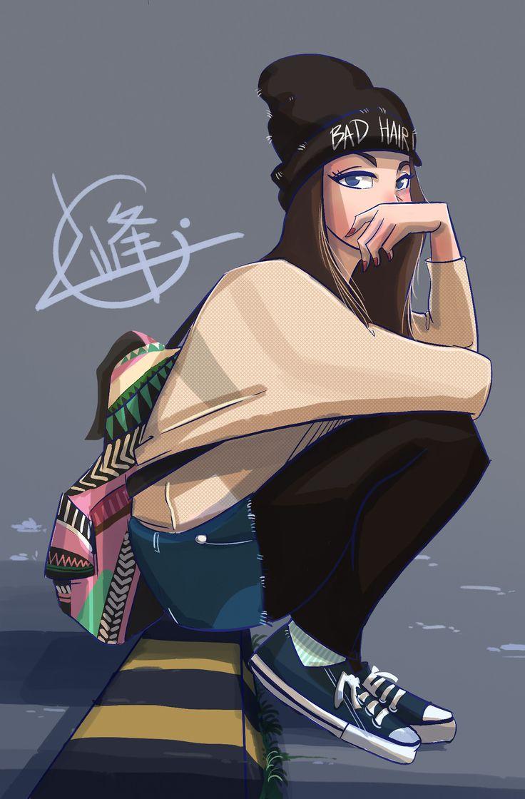 Female character design illustration