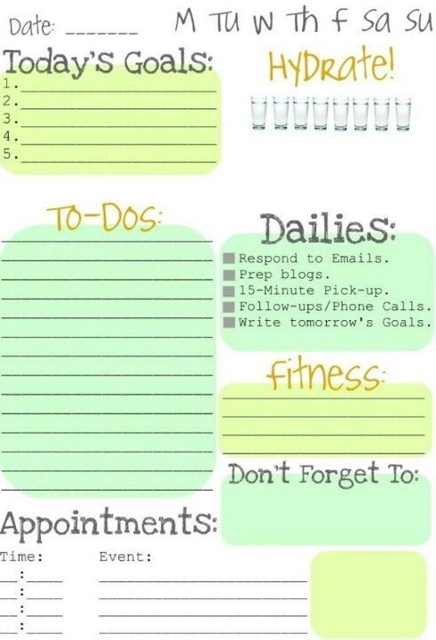 21 best daily goals template images on pinterest goals template image result for daily goals template pronofoot35fo Images