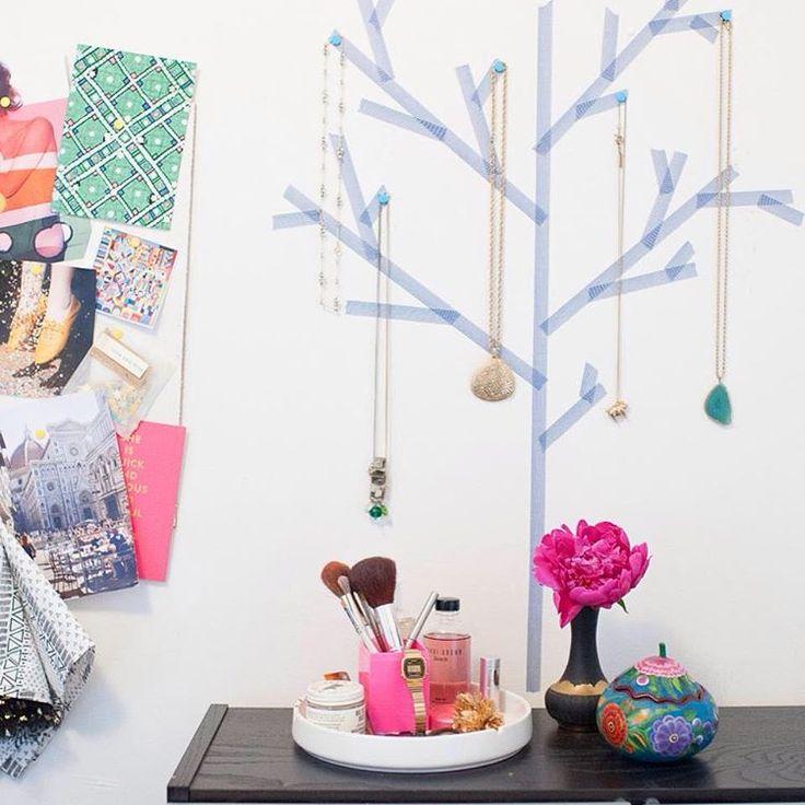 いいね!74件、コメント6件 ― Scandi Atticさん(@scandiattic)のInstagramアカウント: 「101 Uses for Washi Tape: #14 Make your own jewellery tree display!」