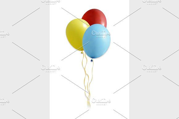 set of colourful balloons by Vector&VideoArtShop on @creativemarket