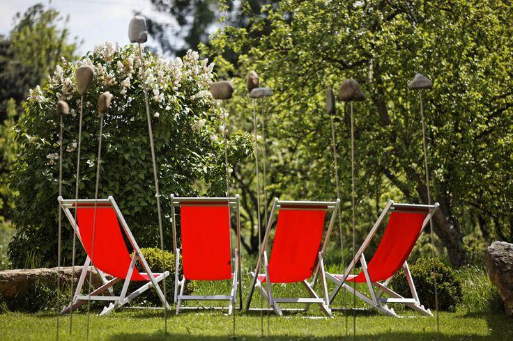 Liegestuhl im Kraftgarten