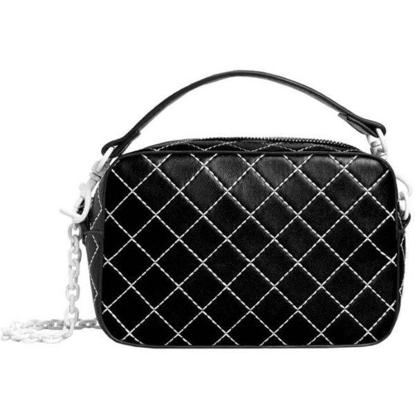 MANGO Seam cross-body bag ($50) ❤ liked on Polyvore featuring bags, handbags, shoulder bags, black, mango handbags, crossbody purse, cross body, mango purse and crossbody handbag