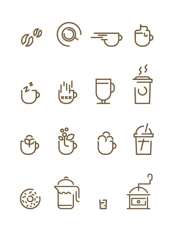 Coffee Icons Francesco Lucchiari in Icons, Symbols & Pictograms
