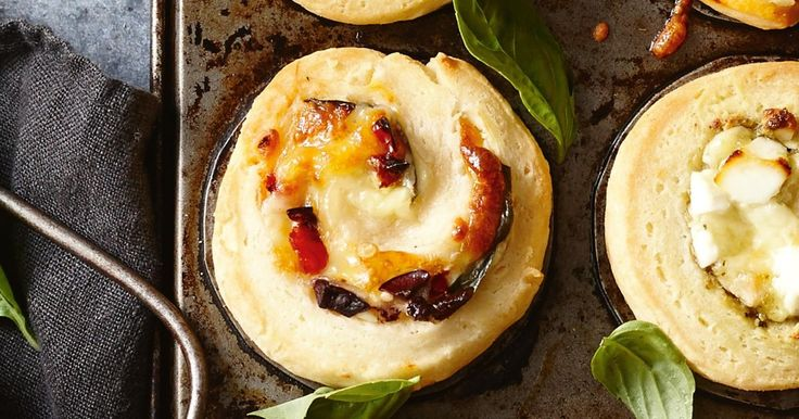 Always a favourite, these sun-dried tomato, olive and cheese scrolls are perfect for entertaining guests when they pop around for tea.