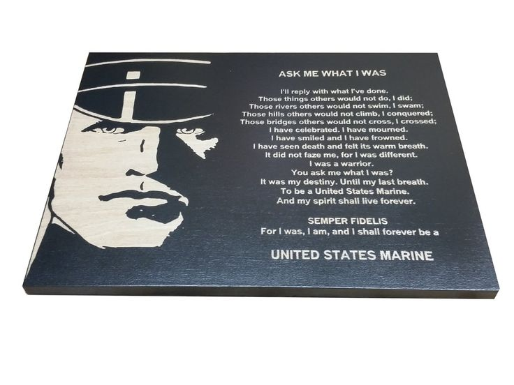 USMC - Ask Me What I Was Black Sign - Marine Corps Veteran - USMC retirement gift