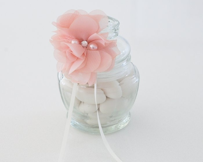 pink shabby chic | Pink Shabby Chic Vintage Lolly Jar Christening Bonboniere Favor - Le ...
