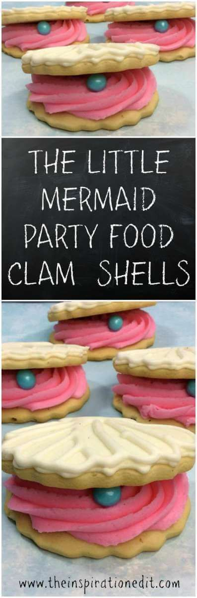 The Little Mermaid / Under the sea party themed clam shells. A great party food idea for the sea themed party.