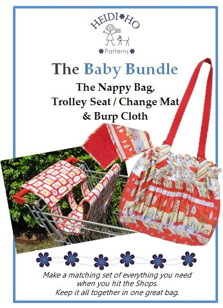 Make the matching set, a Trolley seat that doubles as a Change mat that slips into a Nappy bag.