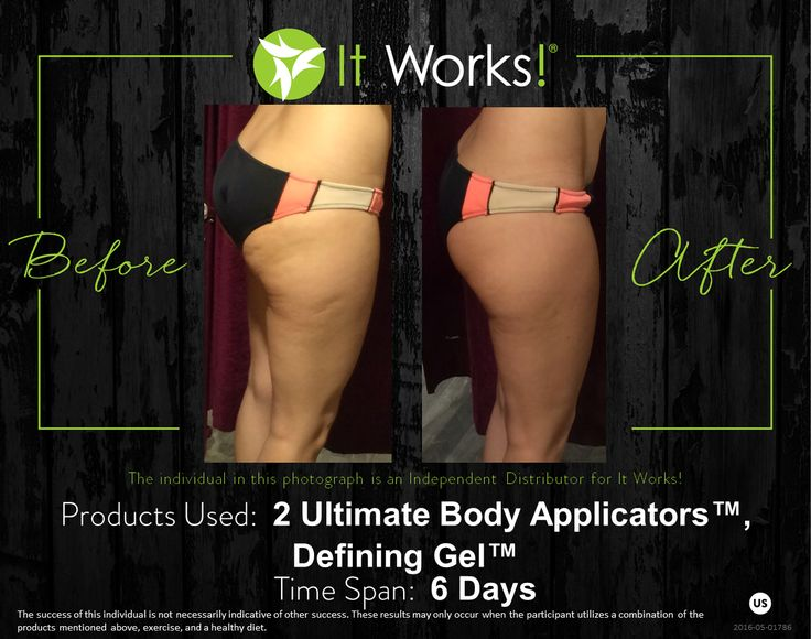 """Check out these ultimate results from using a combination of our products! You can learn more about these products on our website under the """"Body"""" category!"""