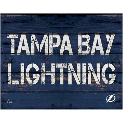 Tampa Bay Lightning 11'' x 14'' Rustic Option Wall Décor - Navy Blue