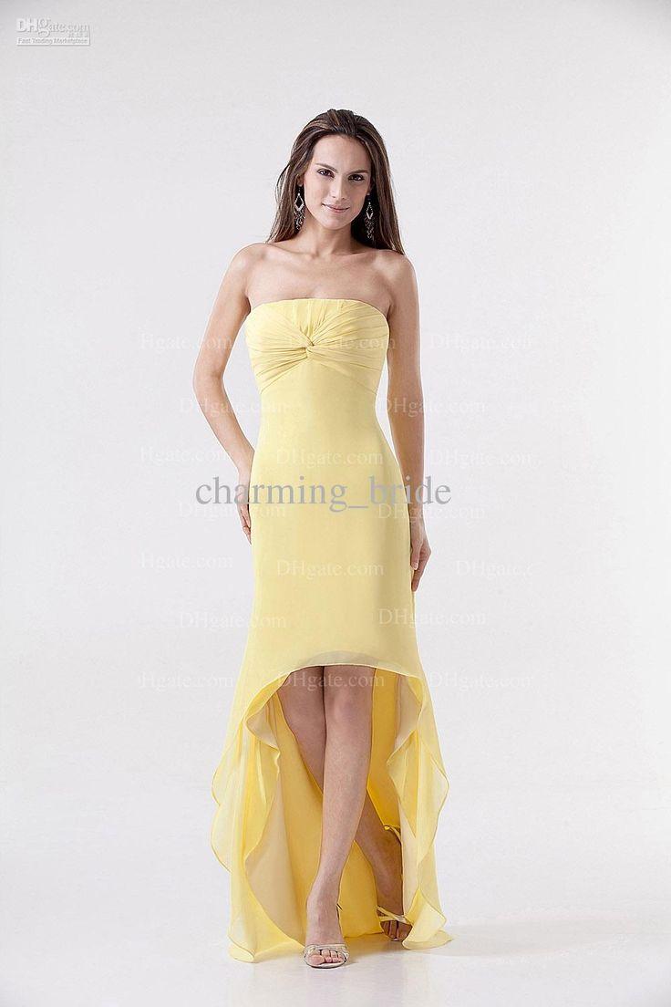 93 besten Top 50 Yellow Bridesmaid Dresses Bilder auf Pinterest ...
