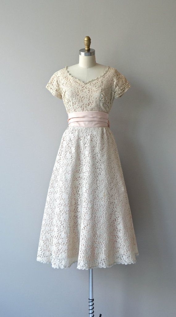 Sugar Kisses dress vintage 1950s dress lace 50s by DearGolden