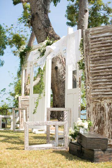 The door - backdrop at the altar b by Tirtha Bridal Uluwatu Bali #outdoor #garden #wedding