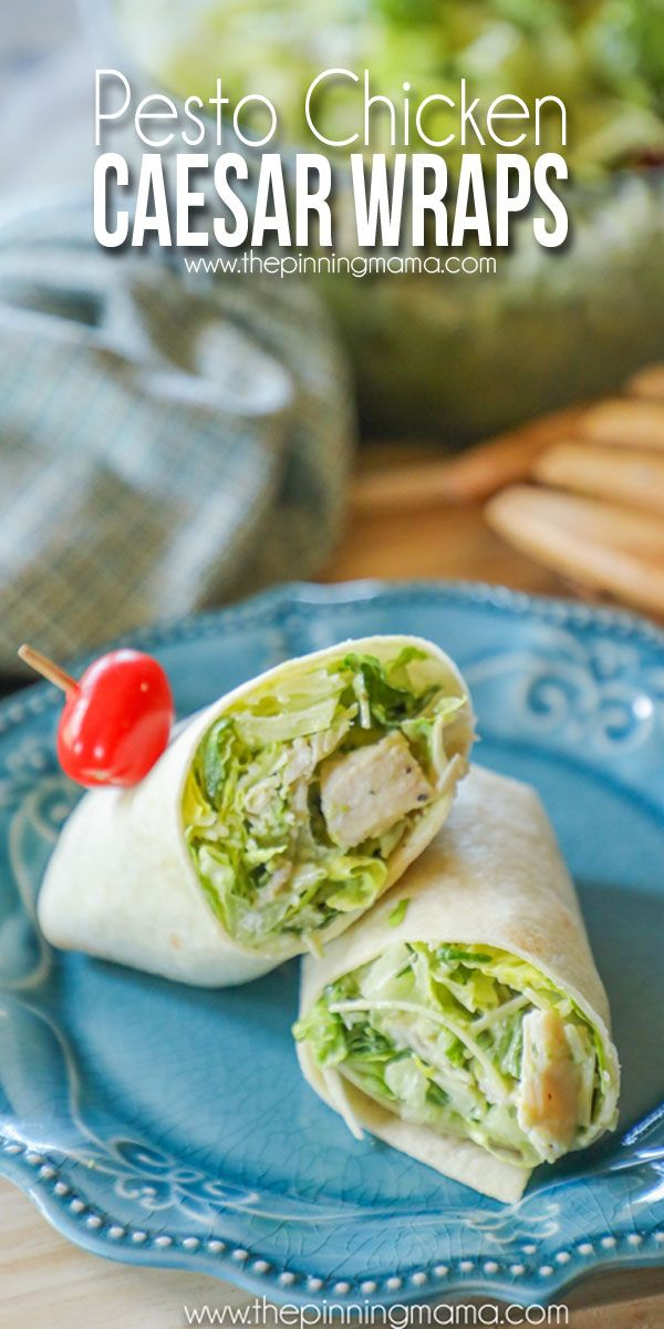 Easy and Delicious Chicken Caesar Wraps Recipe with a twist.  Pesto is the magic ingredient in this recipe .Simple to make, with a taste the whole family will love!