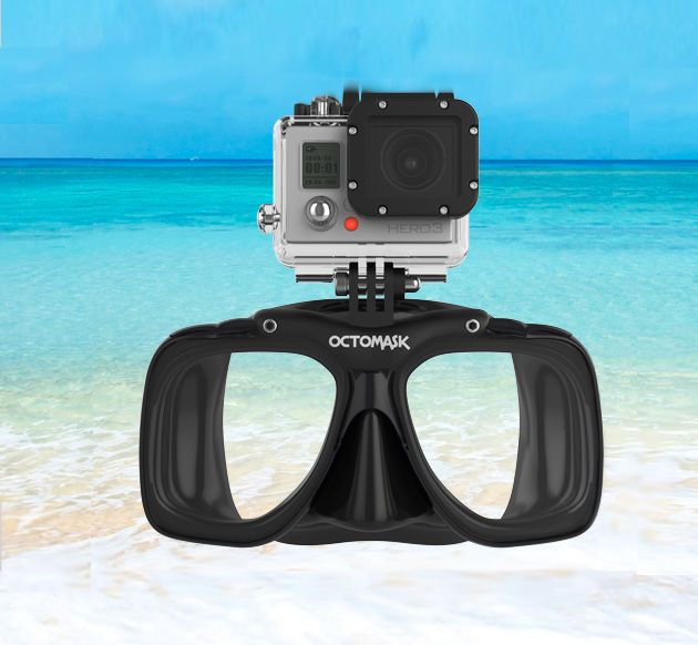 If you've ever been diving with a Go Pro on your head, you know it doesn't take much for a wave to take it right off. This mask is perfect!