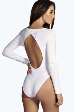 Lauren Open Back Long Sleeve Bodysuit