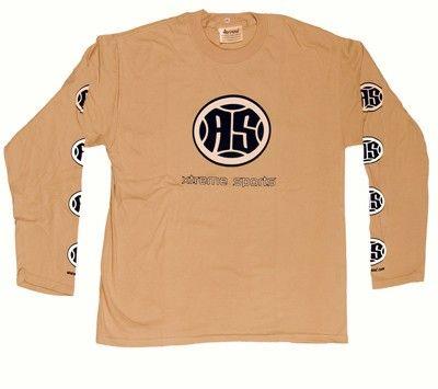 A.S. Xtreme Long Sleeve T-Shirt - Black Logo (Beige)