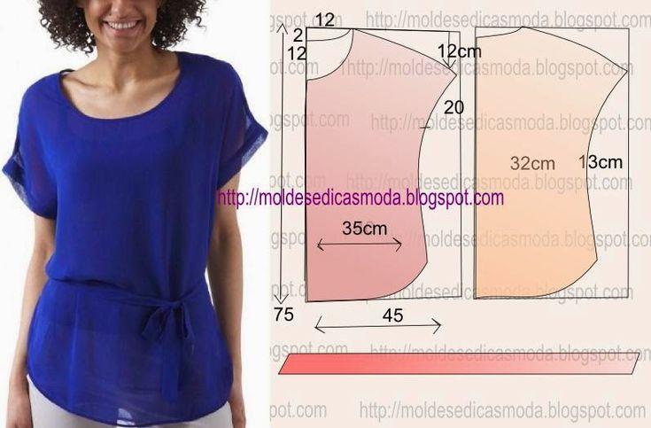 Выкройки простых летних блузок