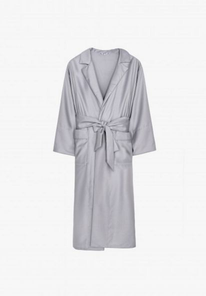 Your One-Stop Shop For The Trend Celebs Can't Get Enough Of #refinery29  http://www.refinery29.com/sleeper-online-shop-slip-dresses#slide-14  Sleeper Steel Blue Robe, $360, available at Sleeper....