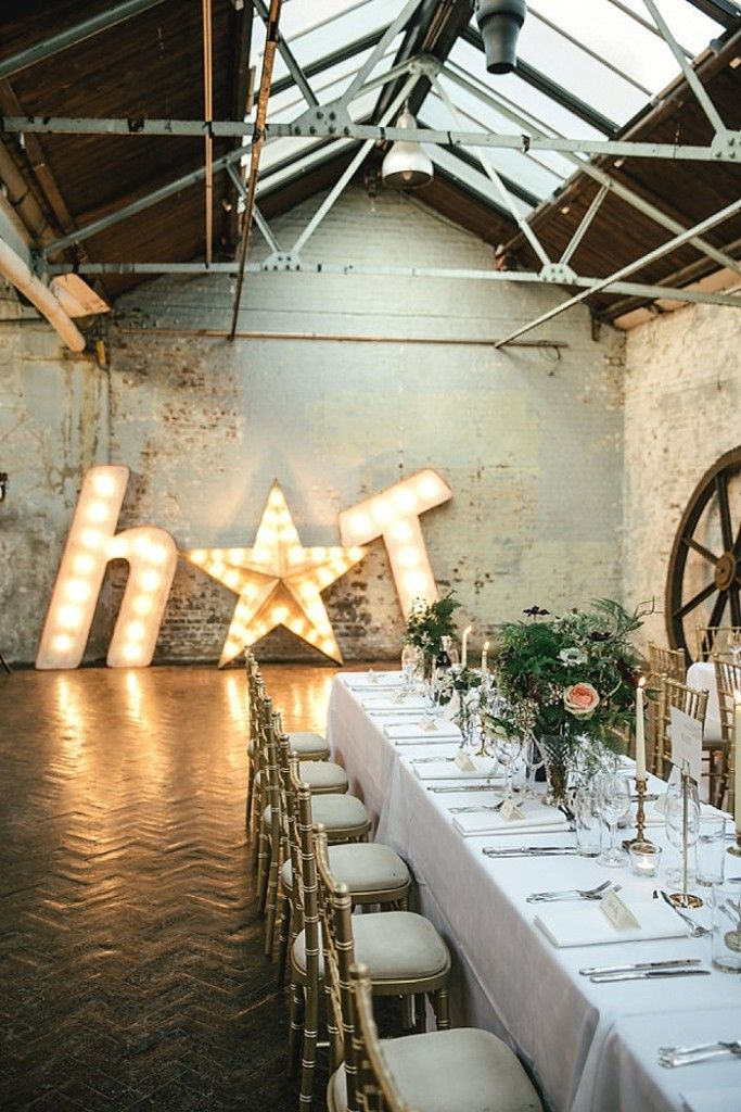 Photo Credit: Kat Hill | Cosy Romantic Urban Winter Warehouse Wedding by London Bride at MC Motors