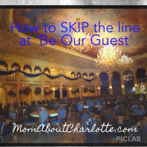 Pin now read later! Skipping the line for lunch at 'Be Our Guest' at Magic Kingdom in Disney World. Tips on planning ahead for Disney with toddlers and kids.