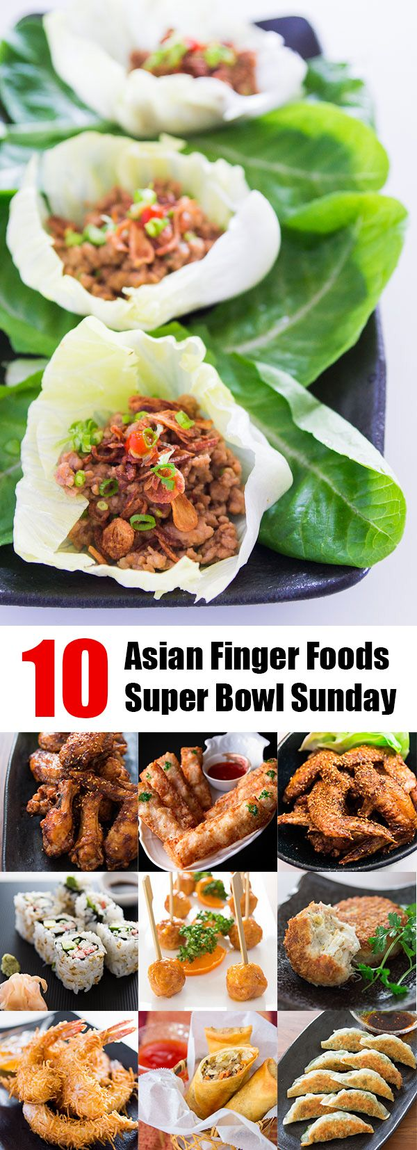 10 Asian finger foods perfect for Super Bowl Sunday. @norecipes