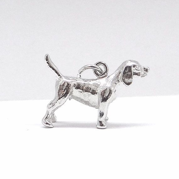 Sterling Beagle Hound Dog Charm Vintage by AM of by Betsysbijoux