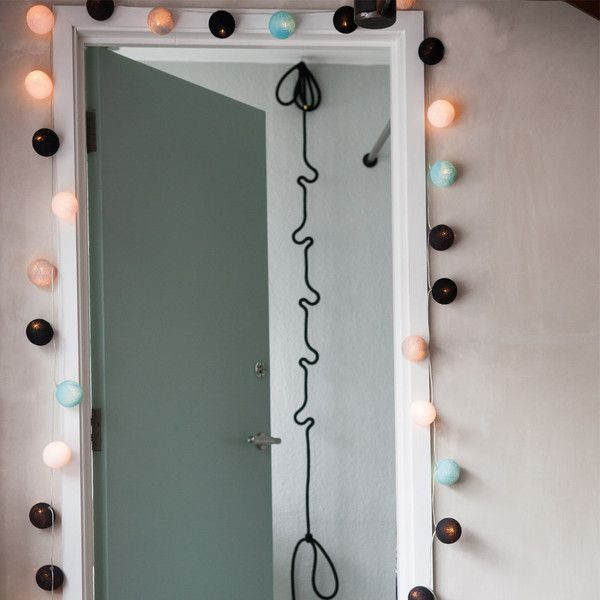 Cable & Cotton 20 Ball String Lights - Seasalt ($30) ❤ liked on Polyvore featuring home, lighting, cream, ice light, string of lights, ice cream lamp, party string lights and colored string lights