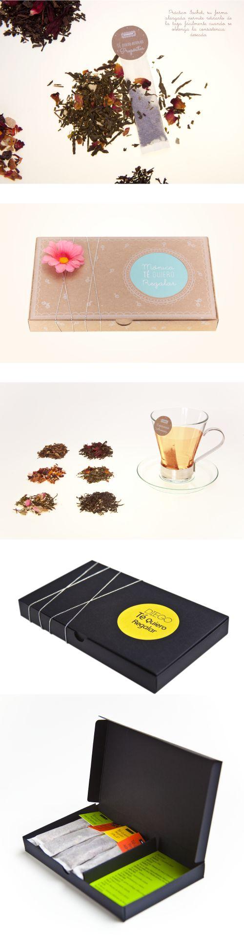 """Caja """"Te Quiero"""" Regalar  www.estudio201.com Diseño, dirección artística y  producción de pieza promocional empresarial edición limitada marca estudio 201. Contenido: 12 sachets con mensajes para el año nuevo, cada uno con un sabor de té diferente de acuerdo a la frase que contiene."""
