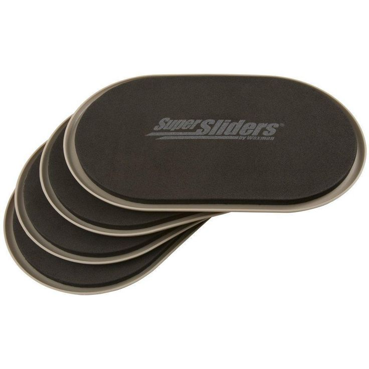 Furniture Movers Carpeted Surfaces 4 Pack Oval Heavy Floor Protection Easy NEW  #SuperSliders #CarpetedFloorSlider