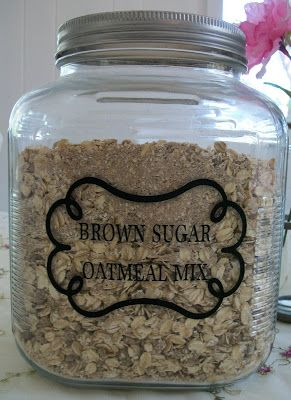 DIY Maple Brown Sugar Oatmeal Mix 1 C. quick oats (grind in blender or food processor till finely ground) 1 C. quick oats (leave whole) 3/4-1C. brown sugar 1 Tbsp. maple flavoring 2 tsp. salt 1 tsp. cinnamon 1/2  tsp. nutmeg